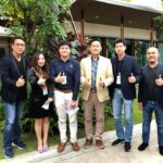 12 DEC 2018 Covermat Media team join new year party with K.Witong, CEO Gold Star Group